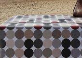Скатерть Aitana Hooper, 140х100см, водоотталкивающая, коричневые круги HOOP/140100/blan