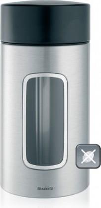 Банка для хранения продуктов Brabantia с окном 1.7л, матовая сталь 371820
