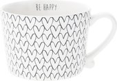 Кружка Bastion Collections White Нeart Pattern Black RJ/CUP 015 BL