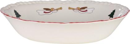 Ваза для вторых блюд Masons Рождественская деревенька, 24х18см открытая 56533407011