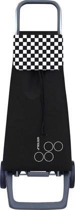 Сумка-тележка хозяйственная чёрно-белая ROLSER Joy JET031blanco