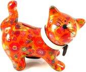 Копилка Кошка KITTY оранжевая с цветочками Pomme-Pidou 148-00021/6