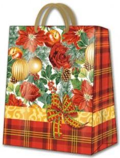 Пакет подарочный Праздничная композиция 26.5х13х33.5 см Paw AGB008105