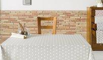 Скатерть текстильная 160х160см, белый горох Aitana Vangogh VANG/160160/blanco