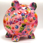 Копилка Свинья BIG PEGGY XL розовая с конфетами Pomme-Pidou 148-00026/1
