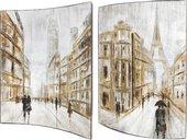 Модульная картина Top Art Studio Зарисовки города 41x51см, пара, дерево, лак WDP1748-TA