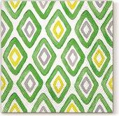 Салфетки для декупажа Paw Акварельные зеленые ромб, 33x33см, 20шт SDL120806