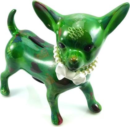 Копилка Чихуа-Хуа NANOU зеленая с сердечками Pomme-Pidou 148-00100/5