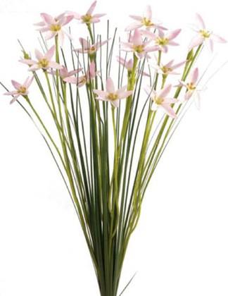 """Цветок искусственный """"Цветочные звёзды в траве"""", розовые Floralsilk 11648L-PI"""