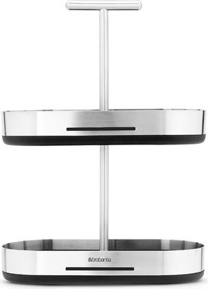 Подставка для специй, матовая сталь / чёрный Brabantia 460180