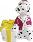 Скульптура Собака с подарком Дулёвский фарфор Д086372