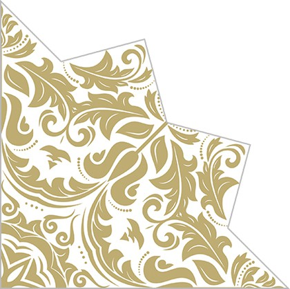 Салфетки для декупажа Paw Волшебная звезда золото 32см, 20шт SDH020009
