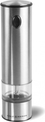Мельница электронная для перца и соли 21см, матовый хром Cole&Mason Battersea H3003410
