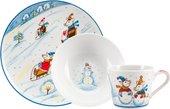 Набор детской посуды ИФЗ Соло, Зимняя прогулка, 3 предмета 81.26660.00.1