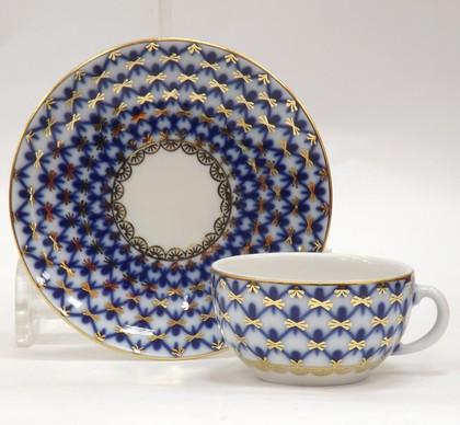 Чашка с блюдцем Кобальтовая сетка, ф. 40г ИФЗ 81.14623.00.1