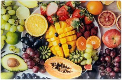 Доска разделочная стеклянная Lesser & Pavey Экзотические фрукты, 30x20см LP93549