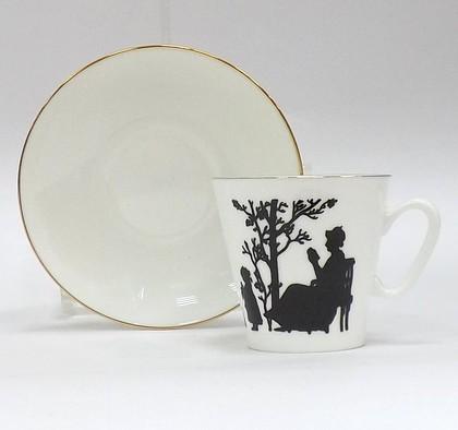 Чашка с блюдцем Семья, ф. Чёрный кофе ИФЗ 81.16747.00.1