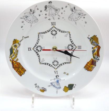 Часы настенные Балет Жизель, фарфор, 270мм ИФЗ Европейская-2 81.24782.00.1