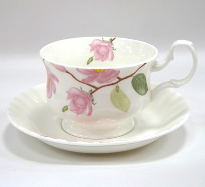Чайная пара для завтрака Цветущая магнолия 400мл Top Art Studio LD2230-TA