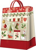 Пакет подарочный бумажный Paw Рождественские истории 30х12х41 см AGB014502