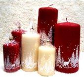 "Свеча ""Зимняя сказка"", колонна 6х11см Bartek Candles 306012"