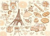 Подставки под тарелки на стол Top Art Studio Обаяние Парижа, 40x29см, 4шт, пробка GD3209-TA