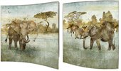 Модульная картина Top Art Studio Саванна 38x38см, пара, дерево, лак WDP1757-TA