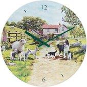 Часы настенные Lesser & Pavey Колли с овечками d30см LP94195