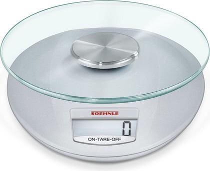 Весы кухонные электронные Soehnle Roma, 5кг/1гр, серебро 65856