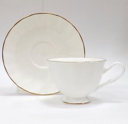 Чашка с блюдцем Золотая лента, ф. Нега ИФЗ 81.20571.00.1