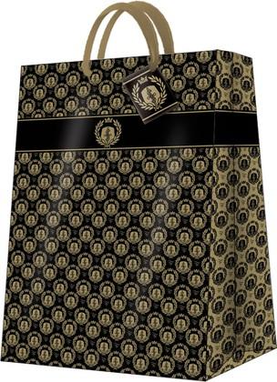 Пакет подарочный бумажный Paw Королевский ,черный 30x41x12см AGB019002