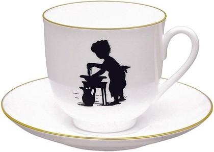 Чашка с блюдцем чайная Умывание, ф. Ландыш ИФЗ 81.15708.00.1