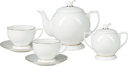 Чайный сервиз ИФЗ Жемчужина, Золотая лента, 14 предметов 81.26223.00.1