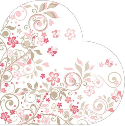 Салфетки круглые Прекрасный Сад, d32см, 3 слоя, 12шт Paw SDH079300