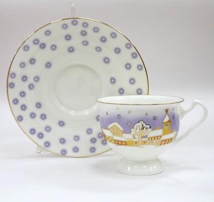 Чашка с блюдцем ИФЗ Айседора, Снегопад 81.19773.00.1