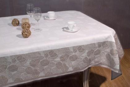 Скатерть Белорусский лён Ливень 150x150см коричневая 12c518/150x150/746/33