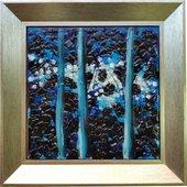 Картина стеклянная Top Art Studio Поэзия ночи 40x40см LG1234-TA