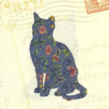 Салфетки Котёнок 33x33см, 20шт, 3-сл. Paw SDL821000