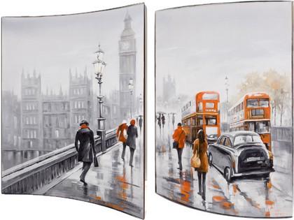 Модульная картина Top Art Studio Мосты Лондона 41x51см, пара, дерево, лак WDP1747-TA