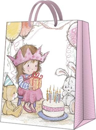 Пакет подарочный бумажный Paw Принцесса 26.5x33.5x13см AGB1000205