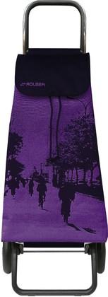 Сумка-тележка хозяйственная фиолетово-чёрная Rolser LOGIC RG PAC070malva