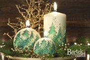 """Свеча """"Ёлочка нарядная"""", шар 8см Bartek Candles 118042"""