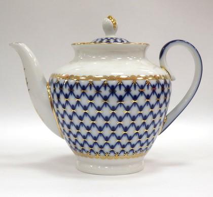 Чайник заварочный Кобальтовая сетка ф. Весенняя ИФЗ 80.75343.00.1