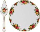 Тарелка для торта с лопаткой Розы Старой Англии Royal Albert 40001863