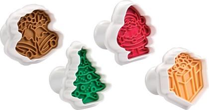 Формочки с печатью для печенья, 4 шт., рождественские Tescoma DELICIA 630857