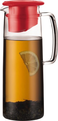 Кувшин с фильтром для напитков, 1.2л, красный Bodum BIASCA 11575-294