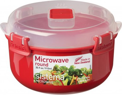 Контейнер круглый 915мл Sistema Microwave 1113