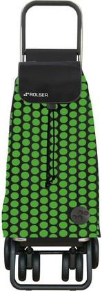 Сумка-тележка Rolser Luna, поворотные колёса, складная, зелёно-чёрная PAC043verde/negro