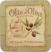Подставки под чашку Creative Tops Olio D Oliva 10.5x10.5, 6шт, пробка 5169653