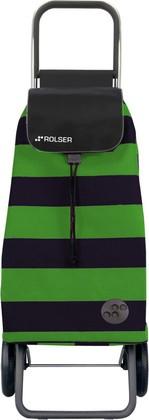 Сумка-тележка хозяйственная зелёно-чёрная Rolser LOGIC RG PAC013verde/negro